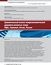 Comparative Analysis of Macroeconomic Dynamics of the Developed Countries: USA, Germany, China, Russia
